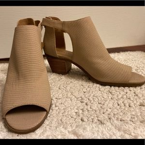 NEW Leather Peek-a-Boo Booties, Lucky Brand